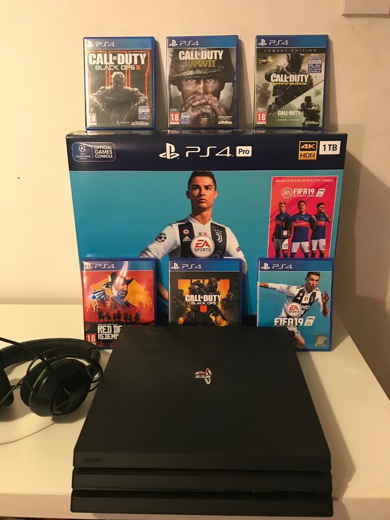 Sony PS4 Pro (Brand New Condition) | With All The Latest Games!