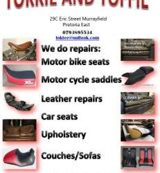 Leather goods repairs , Tailors Trimmers , Upholstery Services Tokkie & Toffie