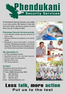 PHENDUKANI SECURITY SERVICES (PTY) LTD