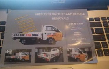 Presley Removals and Bakkie for Hire service at Good prices