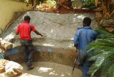 WE build new waterfall