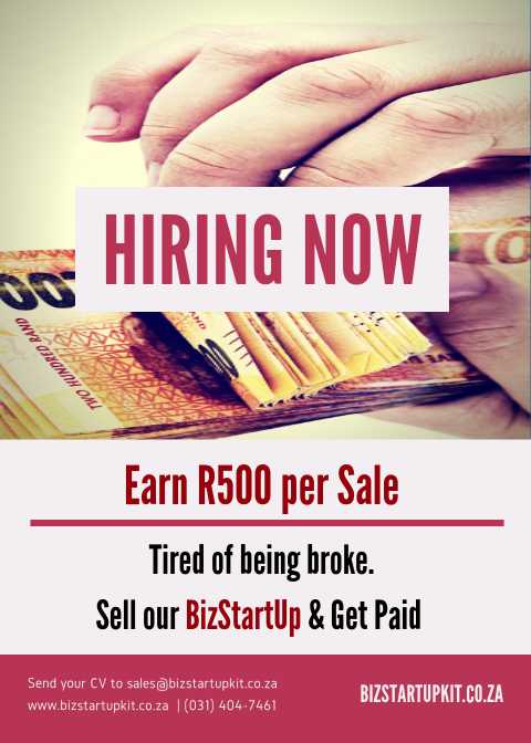 Private: WE'RE HIRING EARN R500 PER SALE