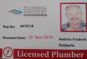 PIRB Registered Plumbing INSPECTIONS and COC