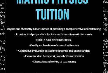Matric Physical Science tuition
