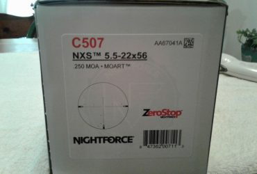 Hot Sales On Brand New Nightforce SHV 3-10x42mm .25 MOA MOAR C563 And Much More