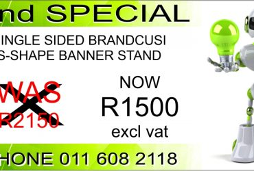 S Shape Banner Stand (Print and System) at a GREAT PRICE