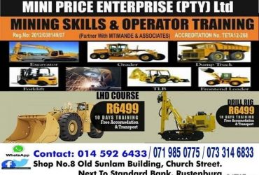 777 dump truck training  LHD scoop  Drill rig RDO tamrock mining school 07733146833