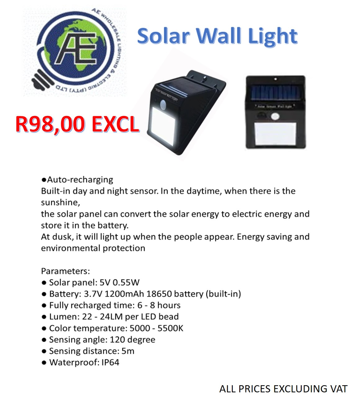 SOLAR PRODUCTS AND LED LIGHTS