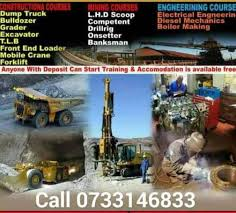 Boiler maker course rustenburg mining school 777 dump truck RDO drill rig  LHD scoop training