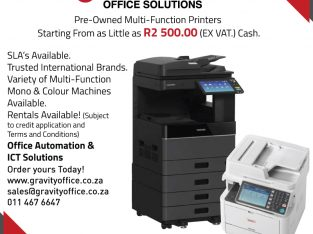 Pre Owned Multi-Function Printers