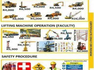 Excavator training in Nelspruit 0826200990