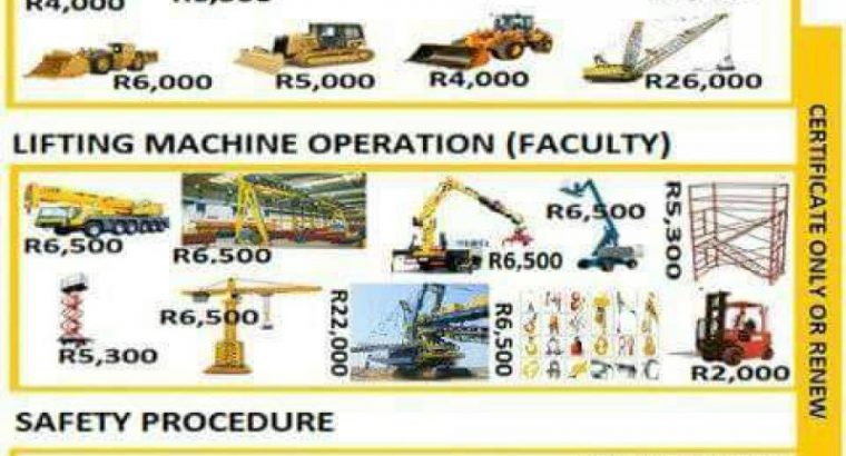 Excavator training in Nelspruit 0826200990