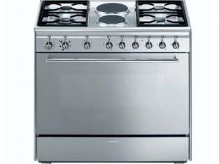 SMEG – 90cm 4 Burner Gas/ 2 Electric Cooker