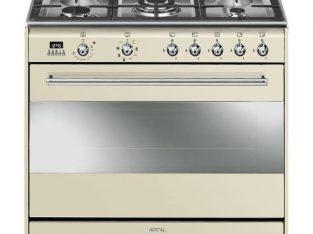 Smeg 90cm Vintage Cream Concert Cooker & Multifunc