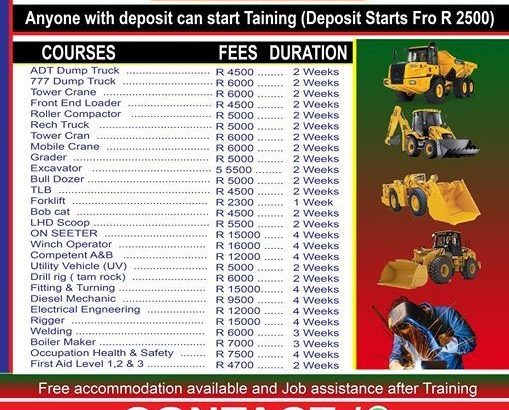 Trade Test welding dump truck Excavator training