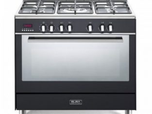 ELBA Black 90cm Fusion 5 Burner Gas/Electric Cooke