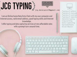 JCG Typing