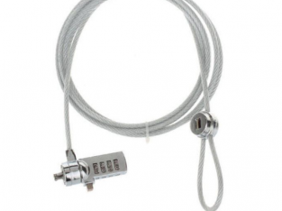 DJS LU186 4-Digit Combination Cable Lock for Lapto