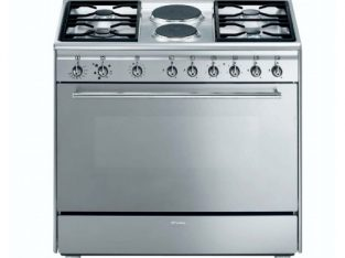 SMEG – 90cm 4 Burner Gas/ 2 Electric Cooker