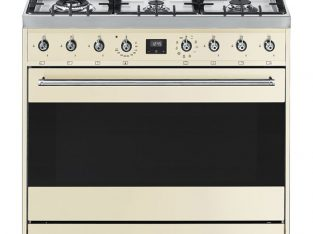 SMEG 90cm 6 Burner Gas Hob / Electric Stove Cream