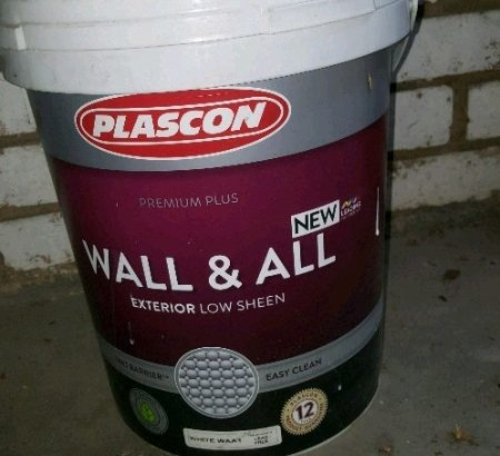 Plascon Wall and All Paint – White (20L)