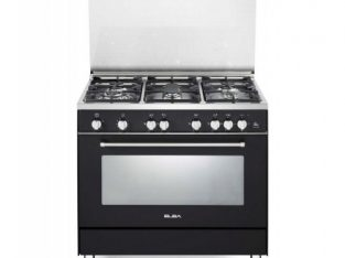 ELBA 900mm Burner Gas / Electric Stove Black