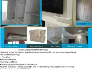 Que Renovations & maintenance