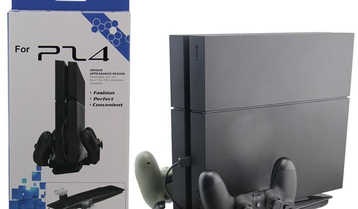 ROKY Ps4 Pro Console Charging Stand With Cooling F