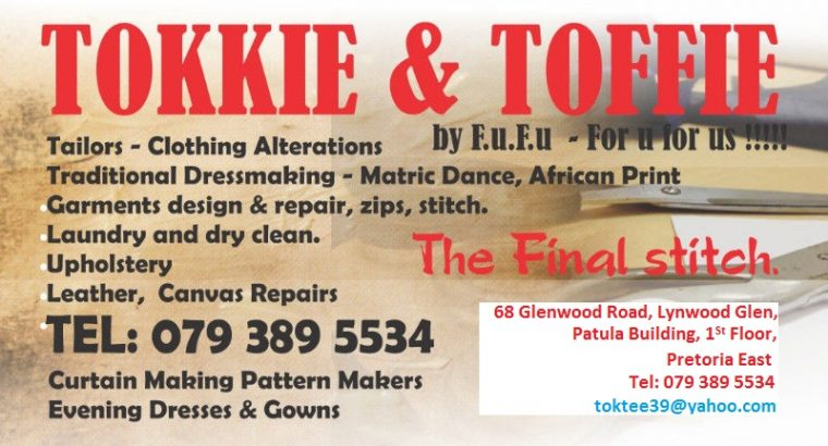 Tokkie and Toffie Canvass Stiching,Tents, Shades &