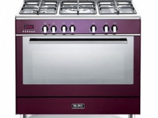 ELBA Red 90cm Fusion 5 Burner Gas/Electric Cooker