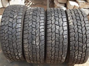 Set of 275/65/20 Cooper Discoverer AT3 tyres