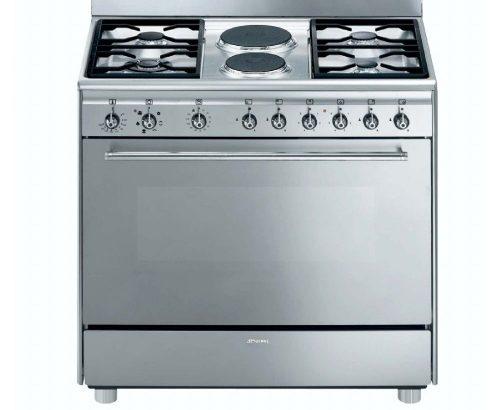 SMEG – 90cm 4 Burner Gas/ 2 Electric Cooker – Mode