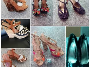 Size 4 High or Wedge Heels