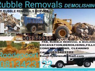RUBBLE REMOVALS BUILDING DEMOLISHING 0813423122