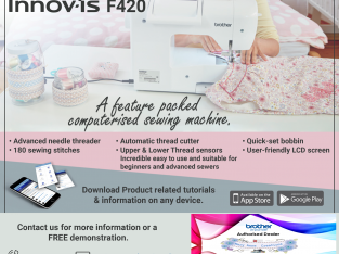 Brother F420 Sewing Machine is on Special