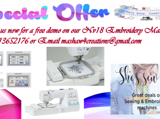 Get your Embroidery Machine for a steal of price