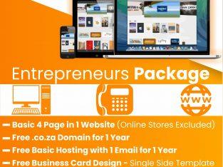 4 Page Promo Website Design