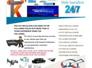 One stop DSTV, KRUISKYK and NAC TV Installer