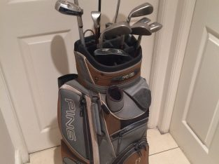 PING Golf Clubs with bag and additional push cart