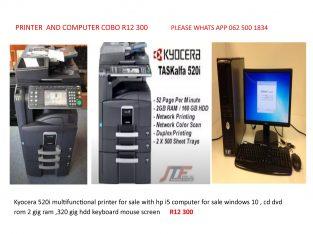 Printer and computer combo