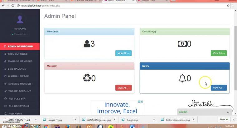 Online Stokvel Website Development