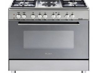 ELBA 900mm 4 Gas Burner 2 Plate Stove Stainless.