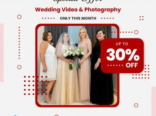 30% Off Wedding Video and Photography service