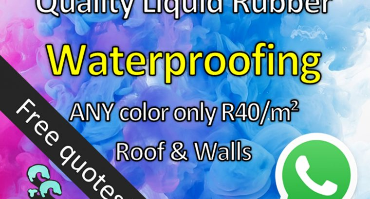 Strong Liquid Rubber Waterproofing – Any Color!