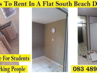 ROOMS IN A FLAT TO RENT SOUTH BEACH POINT DURBAN
