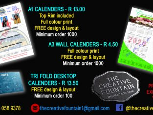 2021 personalised wall calenders