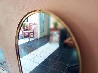 Mirror on Brass Frame