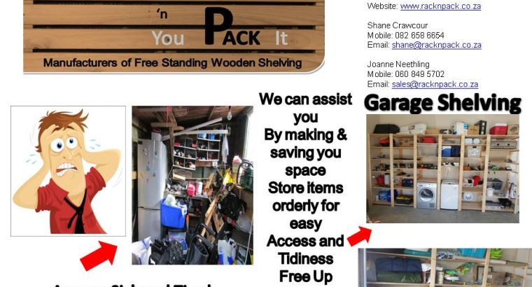 Free Standing Wooden Shelving