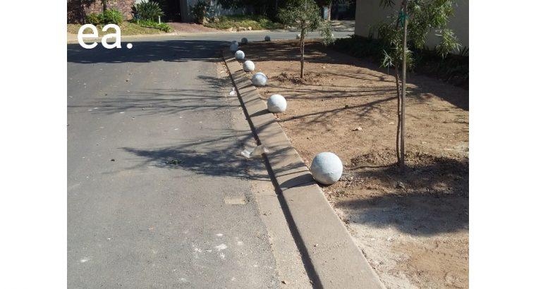Concrete garden items