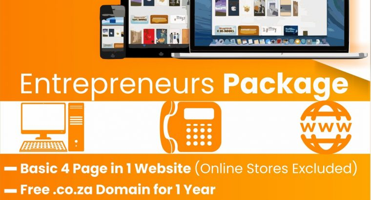 4in1 Page Website Design Promo -R1300